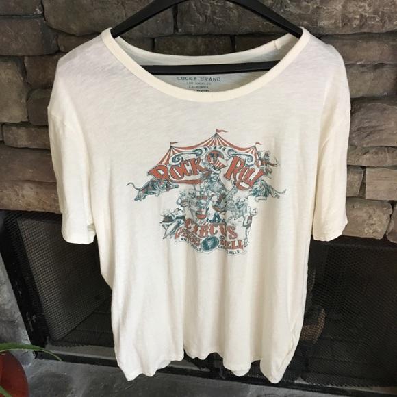 b23a5840 Lucky Brand Shirts | Mens Rock N Roll Circus T Shirt | Poshmark